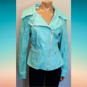Blink By Danier Genuine Leather Jacket Asymmetric